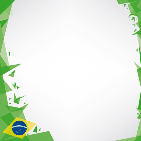 a square design background  Origami style  on brazilian theme Vector