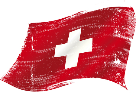 switzerland flag: flag of  Switzerland in the wind with a texture