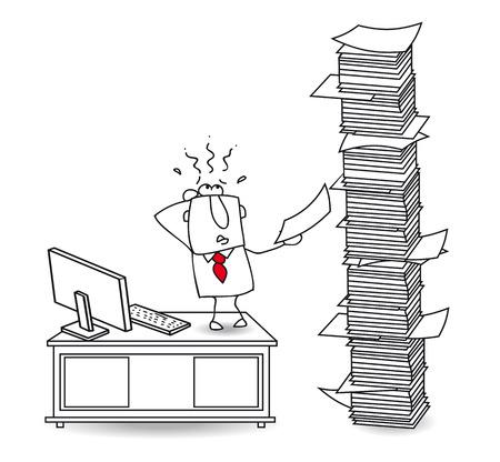 computer problems: Joe, el hombre de negocios que tiene un mont�n de trabajo