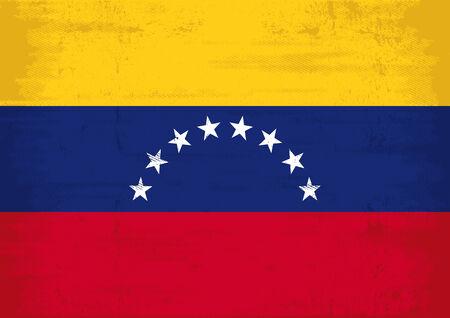 venezuelan: Una bandera venezolana grunge para usted Vectores