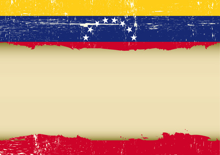 A Venezuelan flag with a large frame for your message Vector