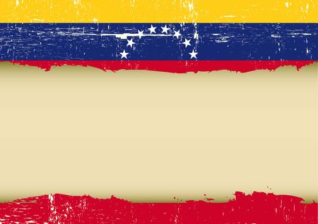 bandera de venezuela: Una bandera de Venezuela con un gran marco para su mensaje Vectores