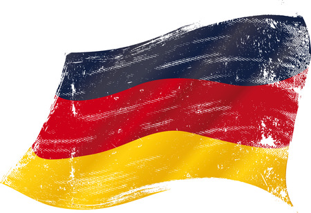 flag of  Germany in the wind with a texture Illustration