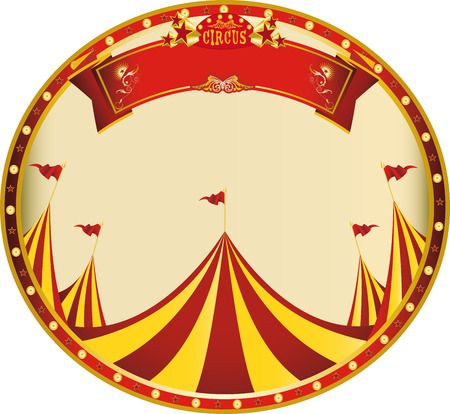 big top: a sticker on circus theme for you Illustration