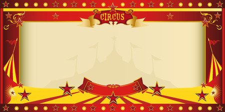 circus: A circus vintage invitation for your publicity