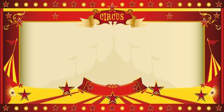 vintage: Ein Zirkus-Vintage-Einladung für Ihre Werbung