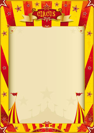 cabaret stage: a circus poster with a large copy space for you