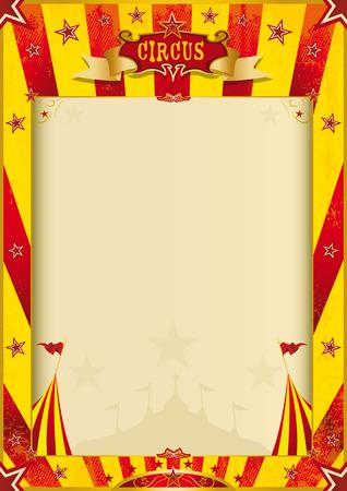 Ein Zirkus-Plakat mit einem großen Exemplar Raum für Sie Standard-Bild - 26177377