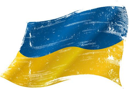 ukrainian flag: A grunge ukrainian flag for you