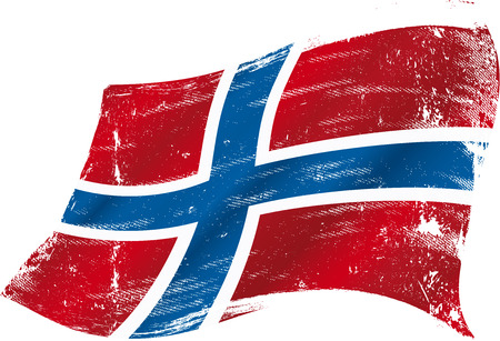 A grunge norwegian flag for you Vector