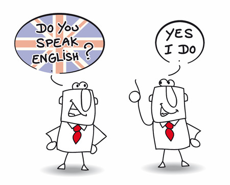 learn english: Two men are speaking english
