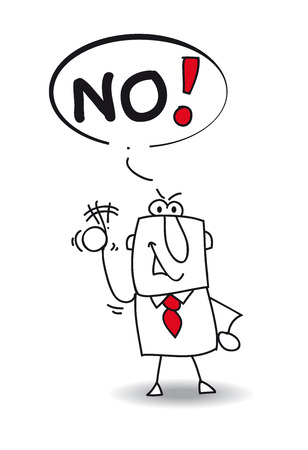 raise your hand: A man says no  He does not agree