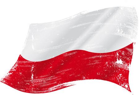 Un drapeau grunge de polish pour vous Banque d'images - 26622329