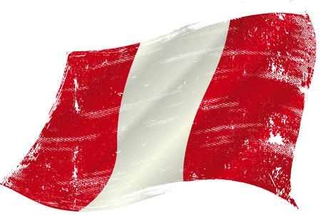 bandera de peru: bandera de Perú en el viento con una textura