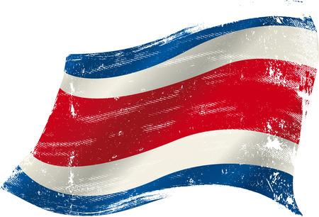 bandera de costa rica: Bandera de Costa Rica en el viento con una textura