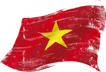 vietnam flag: A grunge Vietnamese flag for you in the wind