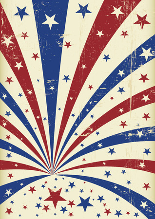 An american background for a poster Vector