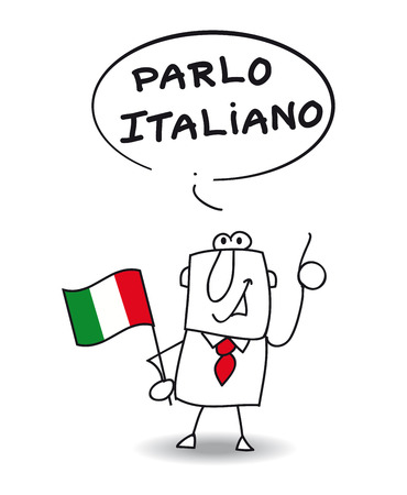 이 사업가는 이탈리아어를 할 수 일러스트