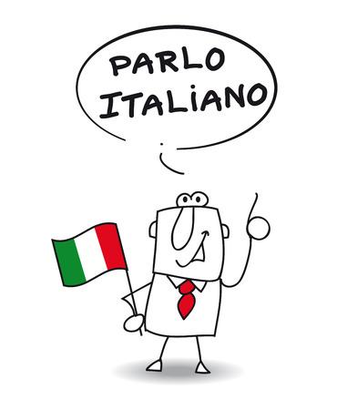 This businessman speaks Italian