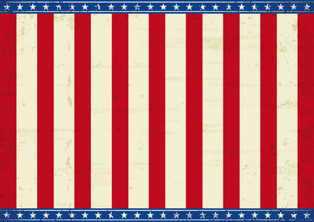 An horizontal american poster for your message  Perfect size for screen,   touch-pad     Vector