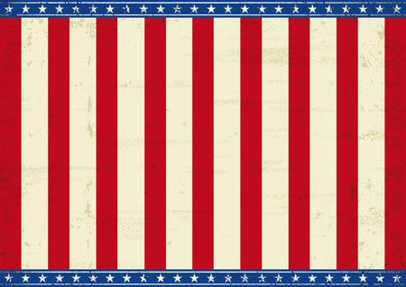 american poster: Un cartel americano horizontal para su mensaje Tama�o perfecto para la pantalla, touch-pad