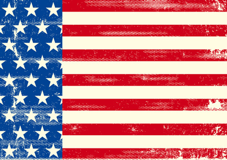 An horizontal american flag for a poster design Vector