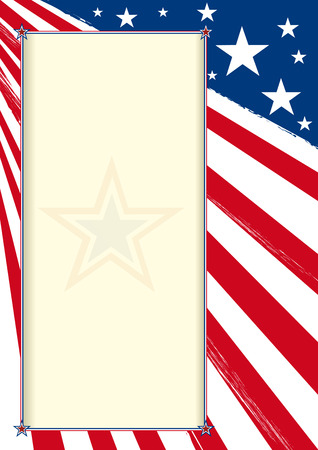 An american background with a frame  Vector