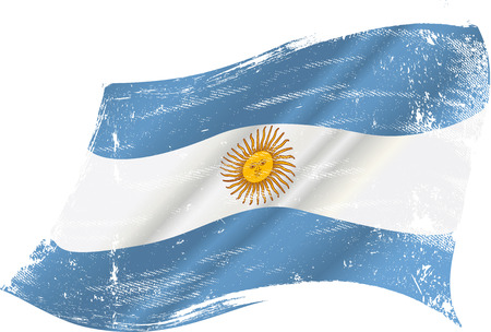 argentine: flag of Argentine in the wind with a texture