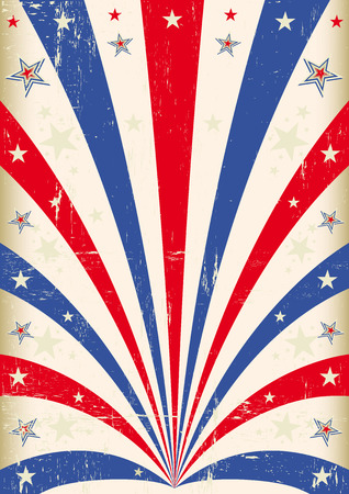 presidents day: A vintage background with red and blue sunbeams Illustration