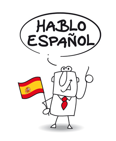 he: This businessman speaks spanish  he says I speak spanish