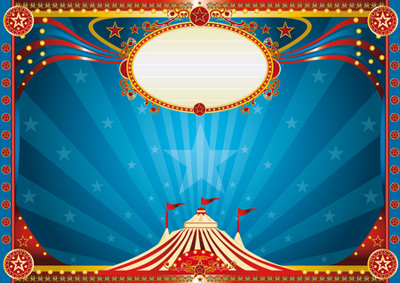 An horizontal circus background for your show  Vector