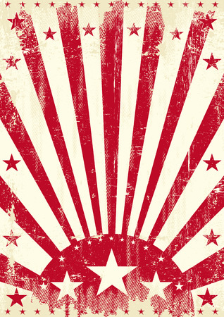 A vintage red poster with a texture Vector