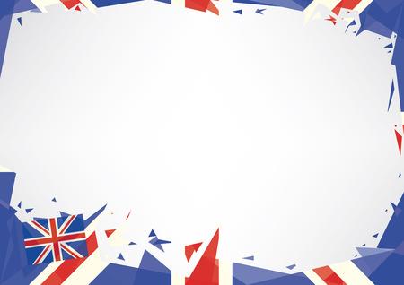 영어 테마에 가로 포스터 종이 접기 스타일 일러스트