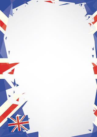 drapeau anglais: Une affiche de style Vertictal origami sur le thème anglais