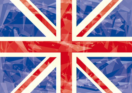 A horizontal british flag with ice effect  Vector