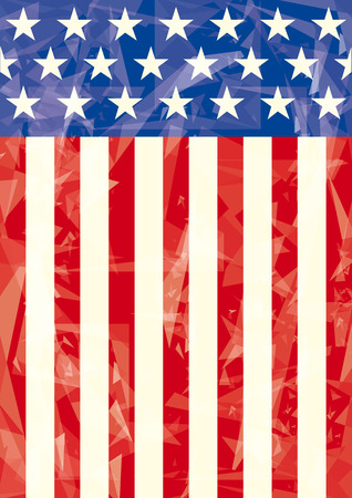 American flag with ice effect for you  Vector
