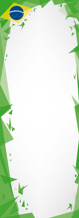 kakemono: A kakemono (Brazil theme and Origami style)