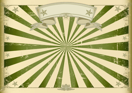 A vintage horizontal poster with green sunbeams for you  Perfect size for a screen  Vector