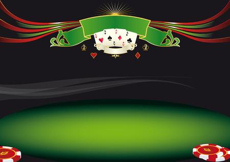 素敵な水平ポーカー背景カジノでスクリーンのこのような背景を使用します。  イラスト・ベクター素材