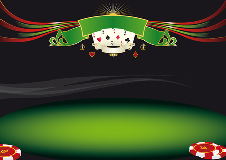 Nice horizontal  poker background  Use this background for a screen in a casino Illustration