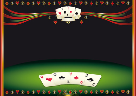 playing card symbols: Nice horizontal  poker background  Use this background for a screen in a casino Illustration