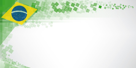 A modern banner with a flag of Brazil  An Ideal background for a greeting card Vector