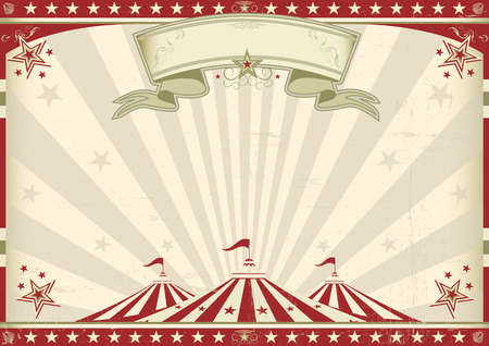 circus stage: a circus vintage poster for your advertising  Perfect size for a screen