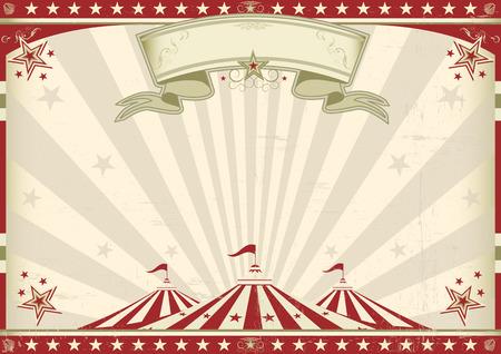 une affiche vintage de cirque pour votre publicité taille parfaite pour un écran Vecteurs