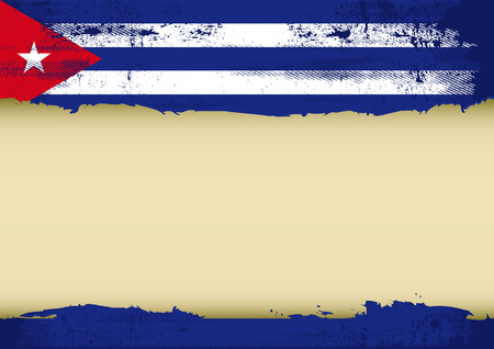 A cuban flag with a large frame for your message  Ideal to use for a screen