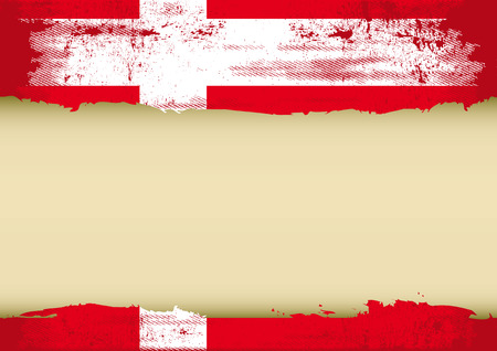 danish: A danish flag with a large frame for your message  Ideal to use for a screen Illustration