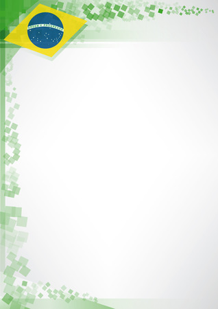 A modern poster with a flag of Brazil for your advertising 矢量图像