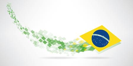 patriotic border: Un fondo futurista de Brasil para usted