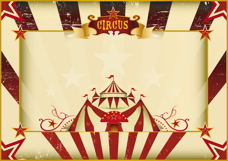 a circus vintage poster for your advertising  Perfect size for a screen  Vector