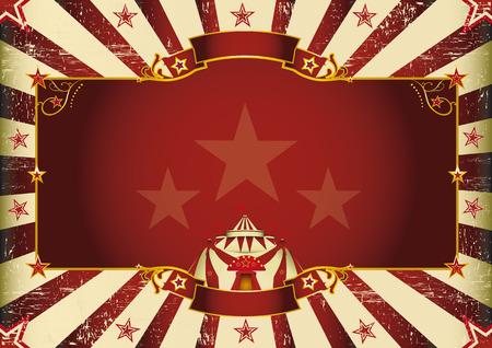 cabaret: une affiche vintage de cirque pour votre publicit� taille parfaite pour un �cran